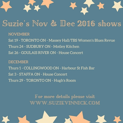 2016-11 - 400x400 - Suzie's Nov & Dec 2016 shows